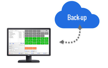 kassa software cloud back-up